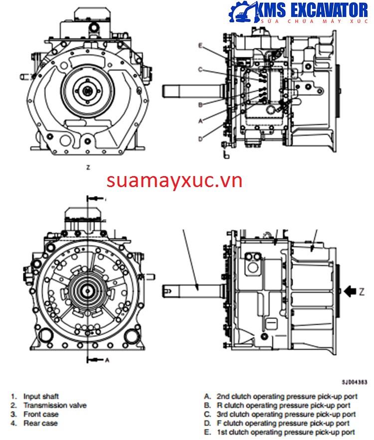 Hộp số máy ủi D375A-5