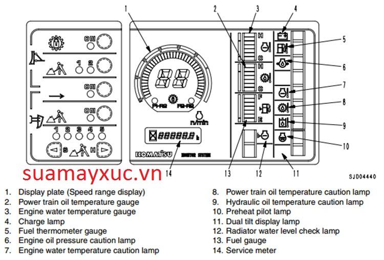 Màn hình máy ủi D375A-5