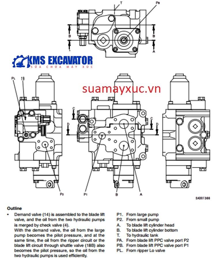 Ngăn kéo máy ủi D375A-5
