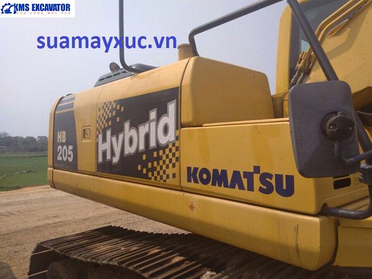 Sửa chữa máy xúc đời cao Komatsu pc200 hybrid