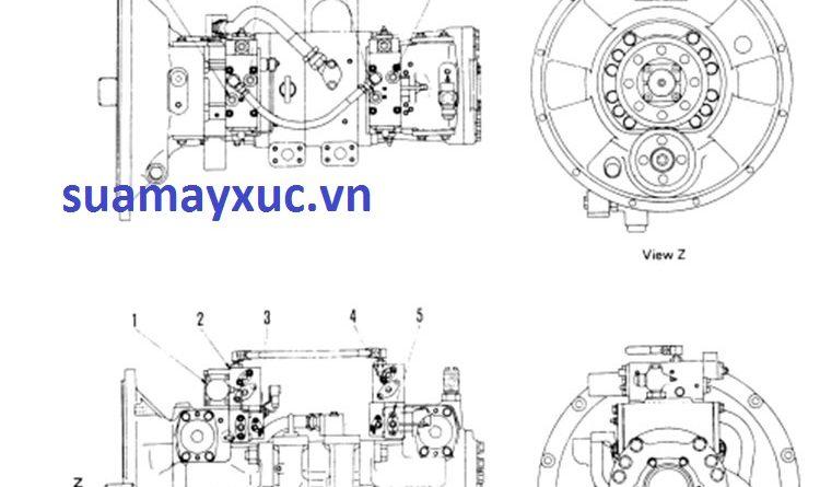 Bơm tổng máy xúc Komatsu PC400-5