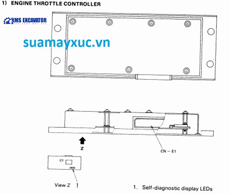 Hộp đen máy xúc Komatsu PC400-5