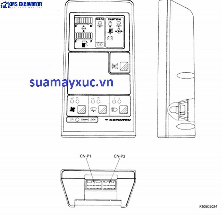 Màn hình máy xúc Komatsu PC400-5