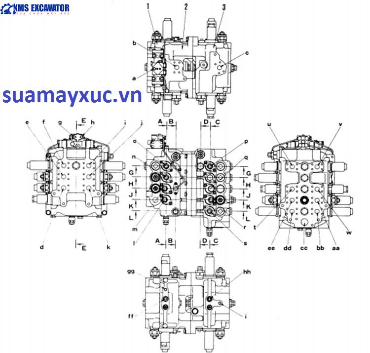 Ngăn kéo máy xúc Komatsu PC400-5