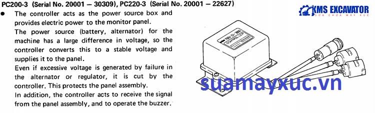 Hộp đen máy xúc Komatsu PC200-3