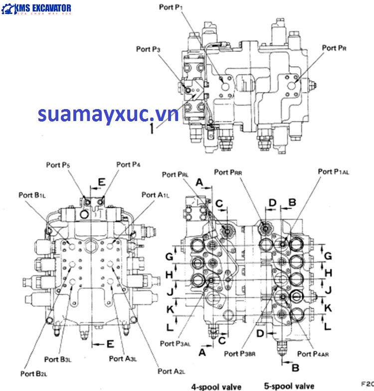 Ngăn kéo máy xúc Komatsu PC200-3