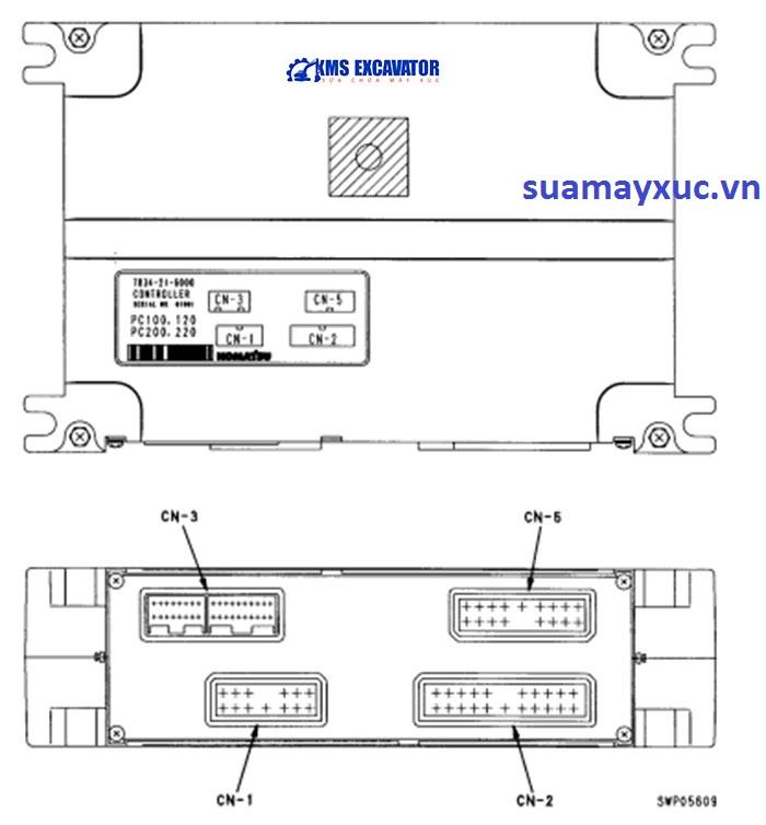 Hộp đen máy xúc Komatsu PC200-6e