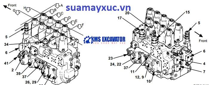 Ngăn kéo máy xúc Hitachi EX200-5
