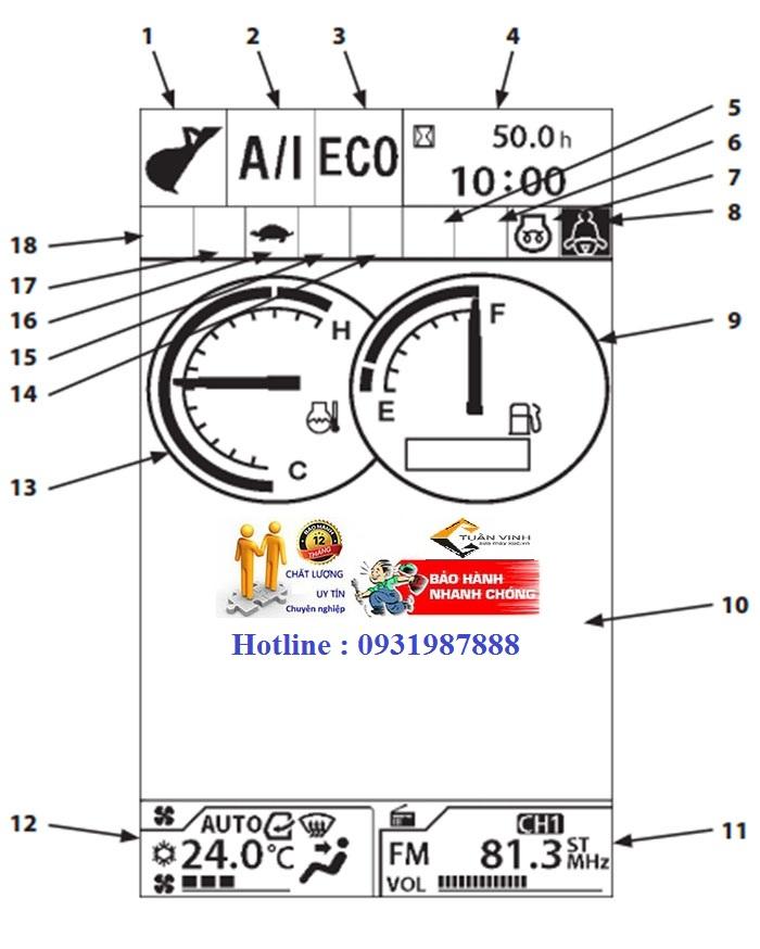 Màn hình máy xúc Hitạchi ZX200-5G