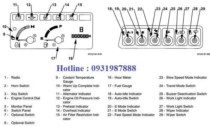 Màn hình máy xúc Hitachi EX60-5