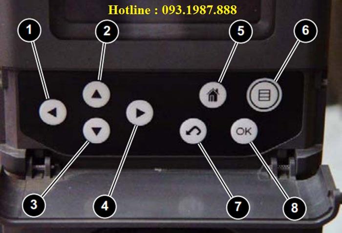 Nút bấm trên màn hình máy xúc Caterpillar 320D