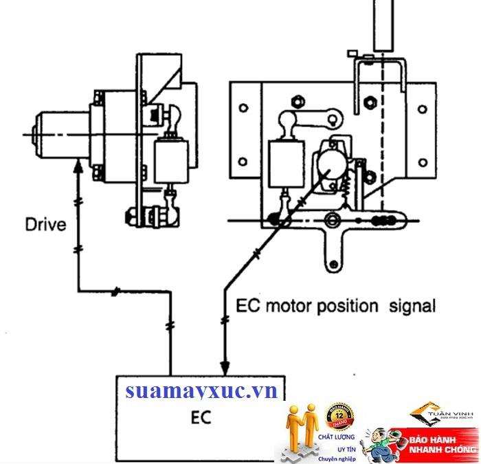 Mô tơ ga điện máy xúc Hitachi EX200-3