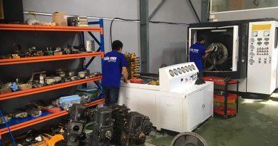 Bơm thủy lực máy xúc Kobelco – Sửa chữa máy xúc