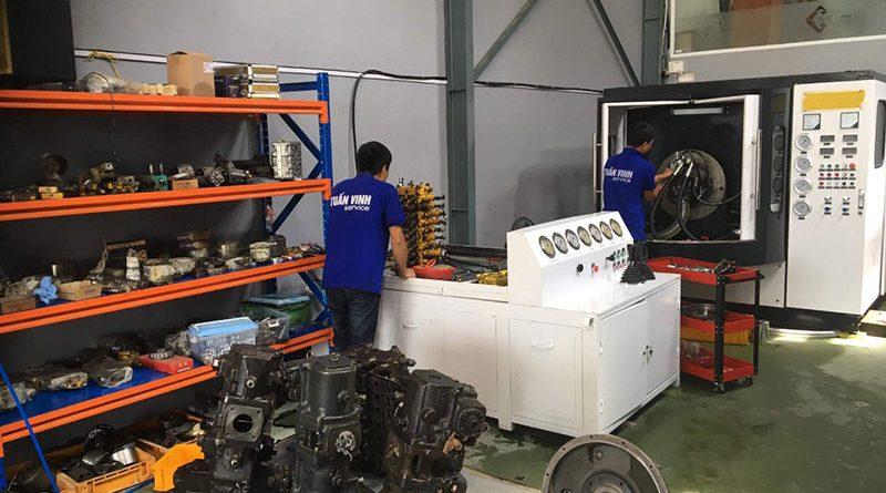 Máy test bơm thủy lực máy xúc