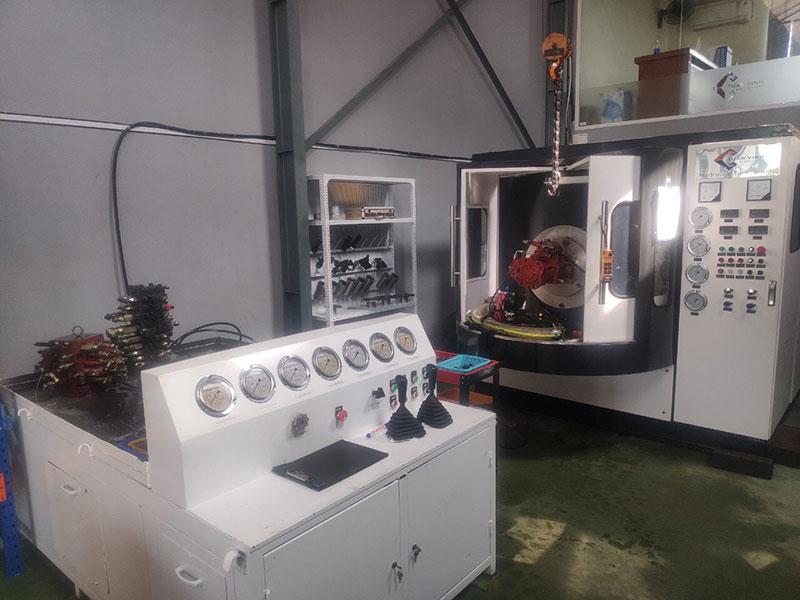 Máy test ngăn kéo máy xúc tại xưởng
