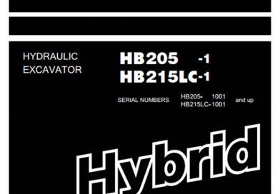Sửa máy xúc – mã lỗi Komatsu Hybrid HB205-1