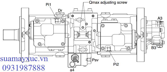 Bơm thủy lực máy xúc Huyndai Robex R210-9
