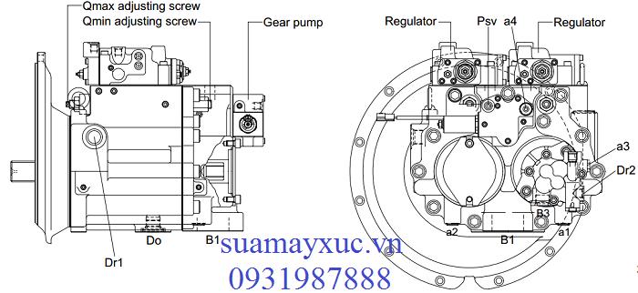Bơm thủy lực máy xúc Huyndai R210NLC-7