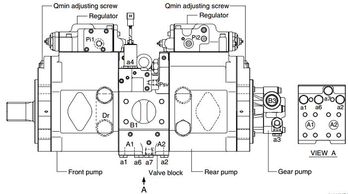 Bơm thủy lực máy xúc Huyndai R210-9