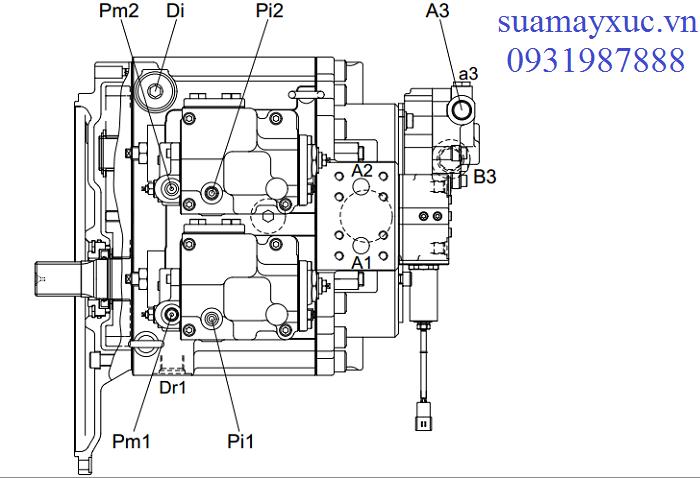 Bơm thủy lực máy xúc Huyndai Robex R210NLC-7