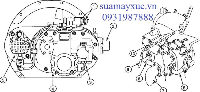 Bơm thủy lực HPV091DW máy xúc Hitachi EX200-2