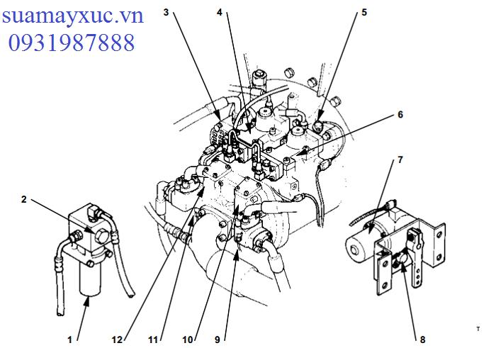 Bơm thủy lực máy xúc Hitachi EX200-5