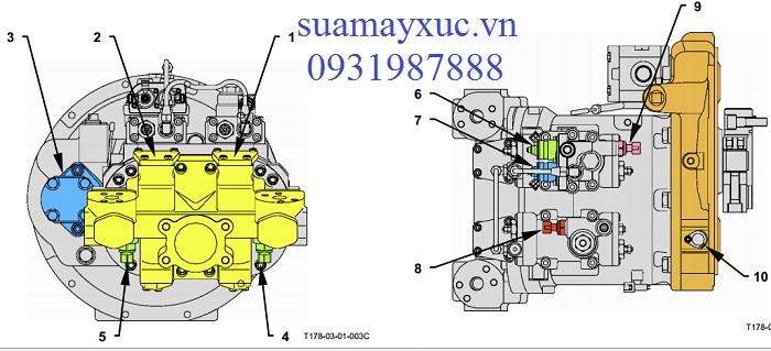 Bơm thủy lực máy xúc Hitachi ZAXIS ZX200-1