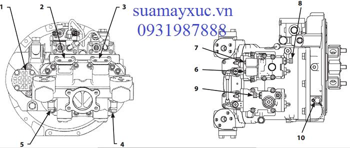 Bơm thủy lực máy xúc Hitachi ZX200-5G