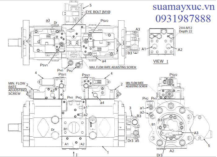 Bơm thủy lực máy xúc Kobelco SK200-8