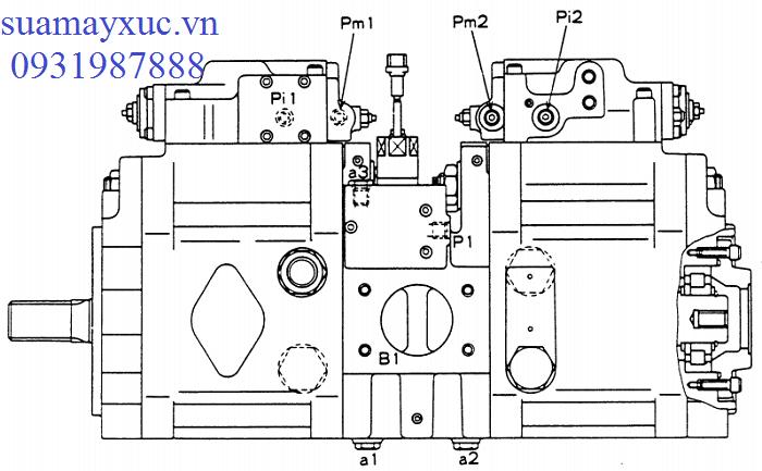 Bơm thủy lực máy xúc Kobelco SK200-1-bán-điện