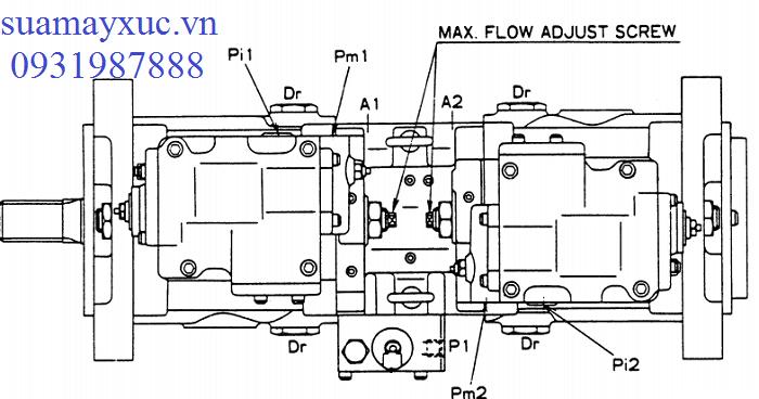 Bơm thủy lực máy xúc Kobelco SK200-1