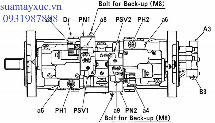 Bơm thủy lực máy xúc Kobelco SK200-6