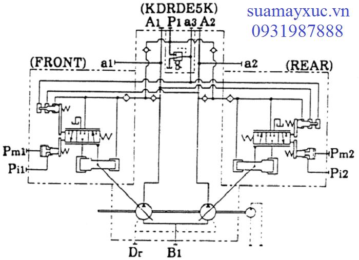 Sơ đồ bơm thủy lực máy xúc Kobelco SK200-1